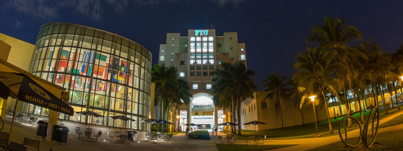 FIU Library at Night