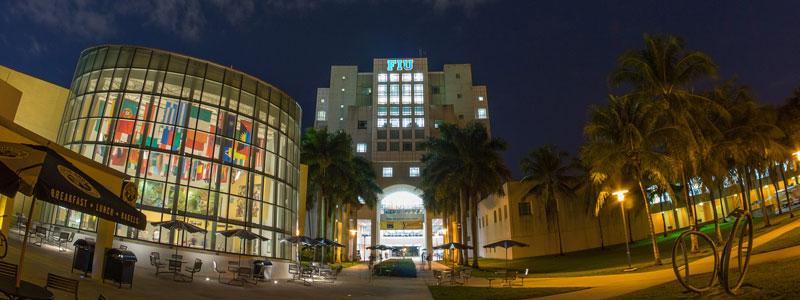 FIU Library at Night