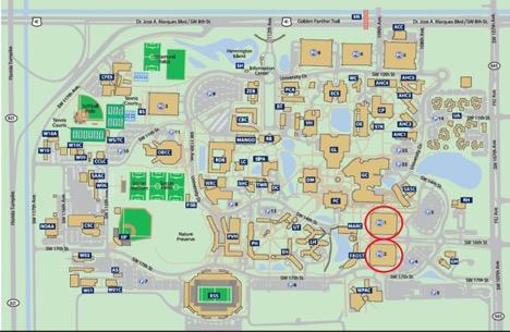 Fiu Modesto Campus Map CFGS Parking Map   University Graduate School